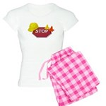 Stop Sign Hard Hat Safety Con Women's Light Pajama