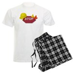 Stop Sign Hard Hat Safety Con Men's Light Pajamas