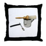 Straight Razor Mug Brush Throw Pillow
