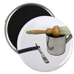 Straight Razor Mug Brush Magnet