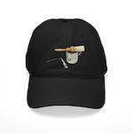 Straight Razor Mug Brush Black Cap