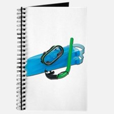 Swimming Goggles Snorkel Fins Journal