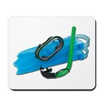 Swimming Goggles Snorkel Fins Mousepad