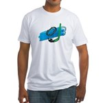 Swimming Goggles Snorkel Fins Fitted T-Shirt