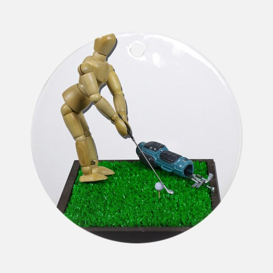 Teeing Off on the Green Ornament (Round)