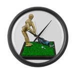 Teeing Off on the Green Large Wall Clock