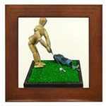 Teeing Off on the Green Framed Tile