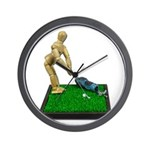 Teeing Off on the Green Wall Clock