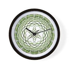 Green Spirograph Starbasket Wall Clock