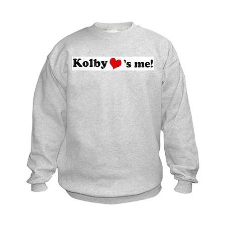 Kolby loves me Kids Sweatshirt