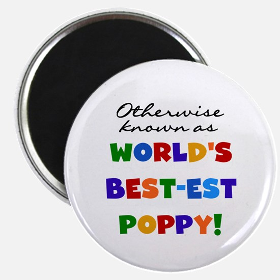 """Otherwise Known Best Poppy 2.25"""" Magnet (10 pack)"""