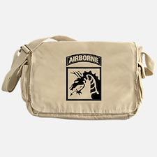 XVIII Airborne Corps B-W Messenger Bag