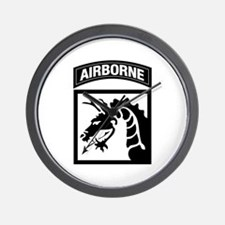 XVIII Airborne Corps B-W Wall Clock
