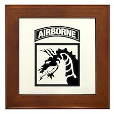 XVIII Airborne Corps B-W Framed Tile