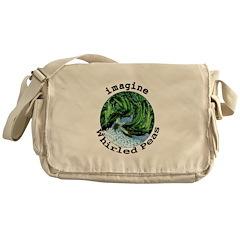 Imagine Whirled Peas Messenger Bag