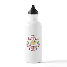 Peace Love Hamsters Water Bottle