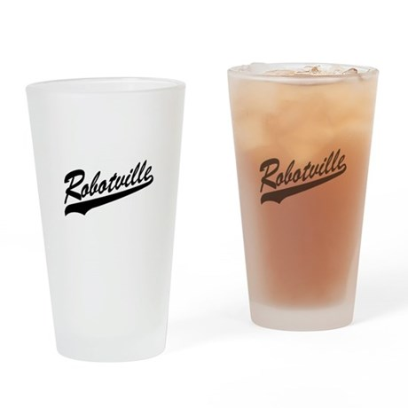 Robotville Drinking Glass
