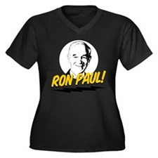 Ron Paul! Women's Plus Size V-Neck Dark T-Shirt