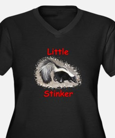 Little Stinker (Baby Skunk) Women's Plus Size V-Ne