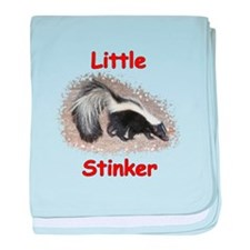 Little Stinker (Baby Skunk) baby blanket