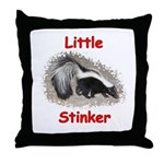 Little Stinker (Baby Skunk) Throw Pillow