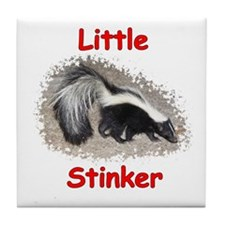 Little Stinker (Baby Skunk) Tile Coaster