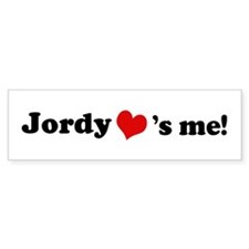 Jordy loves me Bumper Bumper Sticker