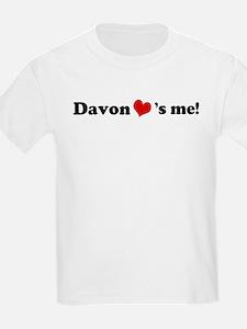 Davon loves me Kids T-Shirt