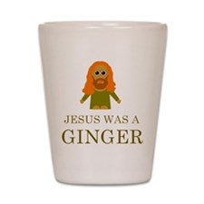 Cute Jesus was a ginger Shot Glass