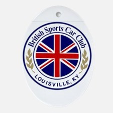 British Sports Car Club Ornament (Oval)