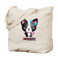Boston Terrier Stickers Magne Tote Bag