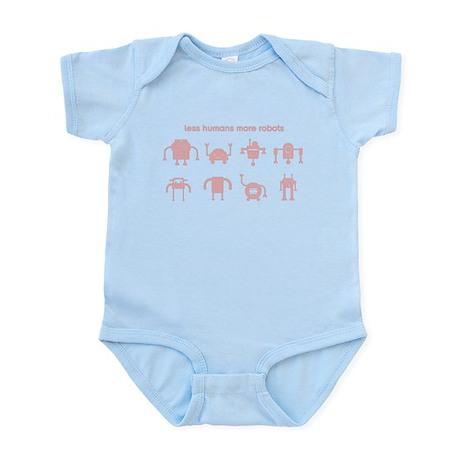 Less Humans More Robots Infant Bodysuit