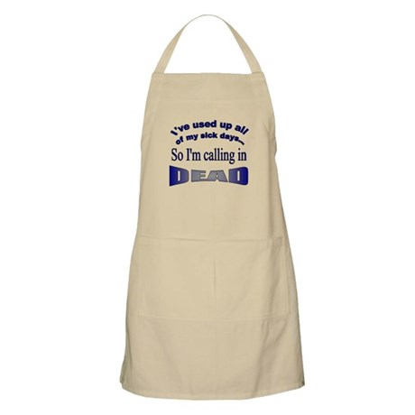 Calling in Dead BBQ Apron