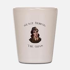 Grace Behind The Guns logo it Shot Glass