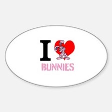Funny Buck teeth Sticker (Oval)