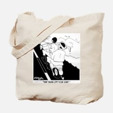 Mind Removing Your Scarf? Tote Bag