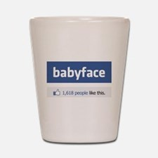 babyface funny parody Shot Glass