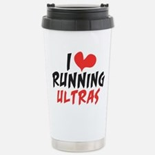 I Heart Running Ultras Stainless Steel Travel Mug