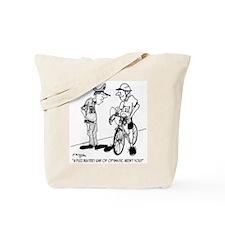 Fuzz Buster on a Bike Tote Bag