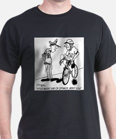 Fuzz Buster on a Bike T-Shirt