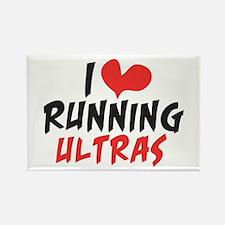 I heart Running Ultras Rectangle Magnet (100 pack)