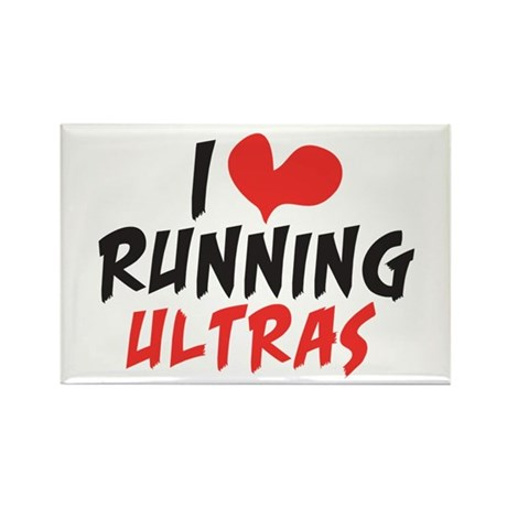 I heart Running Ultras Rectangle Magnet