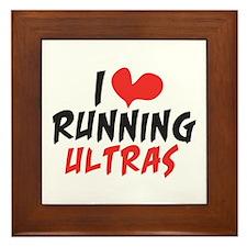 I heart Running Ultras Framed Tile