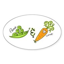 Peas and Carrot Oval Decal