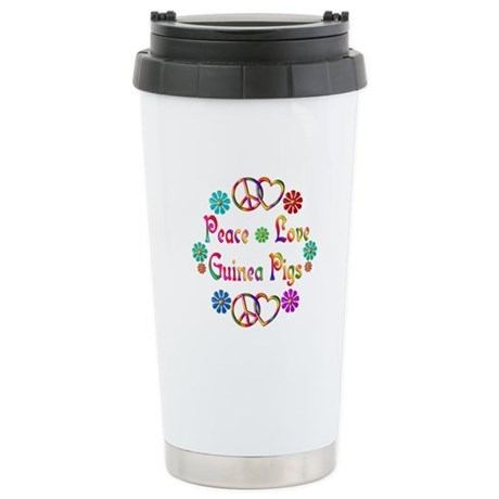 Peace Love Guinea Pigs Stainless Steel Travel Mug