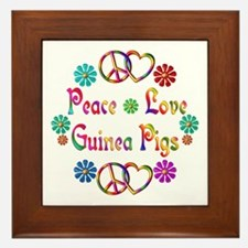 Peace Love Guinea Pigs Framed Tile