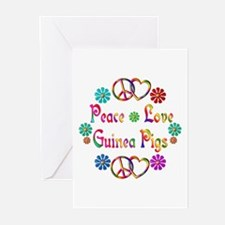 Peace Love Guinea Pigs Greeting Cards (Pk of 10)