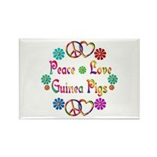 Peace Love Guinea Pigs Rectangle Magnet (10 pack)