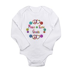 Peace Love Goats Long Sleeve Infant Bodysuit