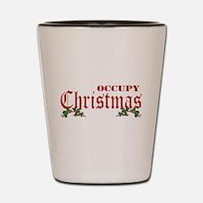 Occupy Christmas Shot Glass